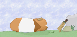 At Ease Guinea Pig by LunarIceDragon