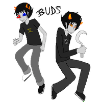 Karkat and Sollux are Best Buds by AlisaTheArtiste