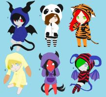 Demons and Animals Adopts by SarahHardy01