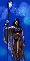 Donna Troy: Indigo Lantern by timothylaskey