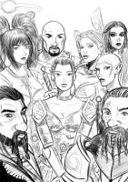DAO Characters Sketch by ZhaxRa