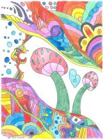 Mushroom Coloring Book P10 Example by LiquidCandyRainbow