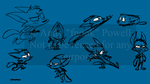 Game Character Concept ruffs by fnook