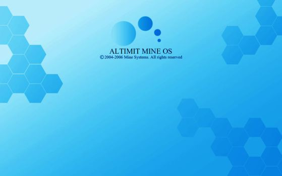 Blue ALTIMIT Mine OS Wallpaper by Osama35