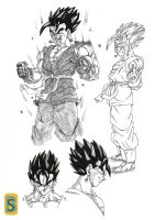 Vegeto GT -character design- by bloodsplach