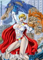Power Girl-in progress by fernandomerlo