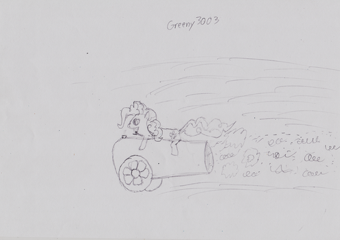 ATG Day 2: Pinkie Pie Riding Her Party Cannon by Greeny3003