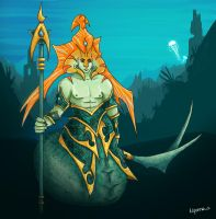 Dota 2: Naga Siren as a man by NiennaPixiesdance