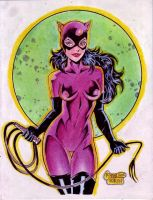 CATWOMAN cartoony by RODEL MARTIN (07182015) by rodelsm21