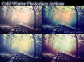 Cold Winter Photoshop Actions by ibjennyjenny