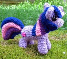 Chibi Twilight Sparkle by NerdyKnitterDesigns