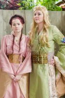 Cersei Lannister and Sansa Stark by abisue