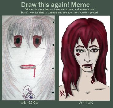 Before and After of the Vamp girl from '09 by kornelyte