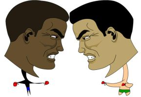 2 EPIC faces and toon bodys by Pjczar