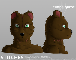 Ruby Quest - Stitches by Fiidchell