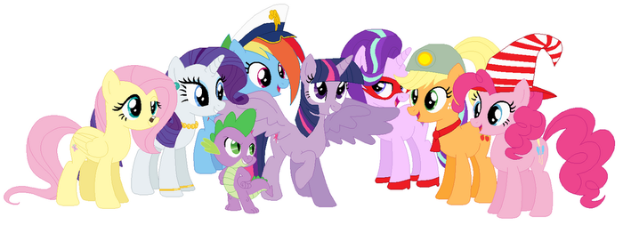 MLPTTYD Twilight Sparkle and her partners by 4swords4ever