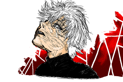 (old)Tokyo Ghoul:re in MS Paint III - Kaneki Ken by chickiefootwo