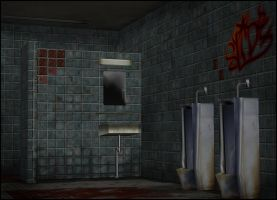 Dirty Restroom [XPS] by deexie