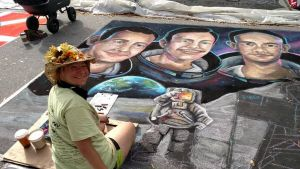 Apollo11 Moon Landing Chalkart 01 by charfade