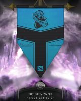 Dota2 TI4 Banners - NewBee by goldenhearted