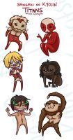 AoT stickers: Titans by Kauritsuo