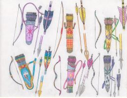 Mane 6 archery sets by tod309