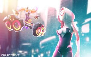 SPIDERGWEN VS DJ SONA by CharlyChive