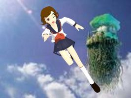 MEIKO trying to fly. by cupidgirl3000