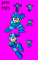 Misc Megaman poses by geno2925