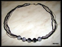 Black and silver necklace by jasmin7