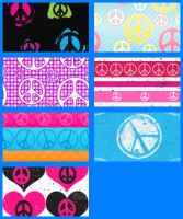 Peace Symbol Set 2 by krystalamber2009