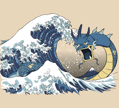 The Great Wave off Mt. Moon by SamuriFerret