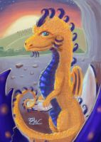 A Golden Baby Dragon by mosobot64