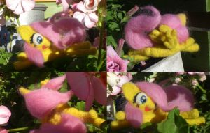 Filly Fluttershy Needle felted #2 by Holcifio