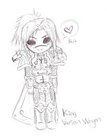 Chibi King of Stormwind by Kill-Bloody-Rosesxxx