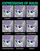 Expressions of Maud by drawponies