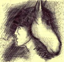 Dark Horses -in pen- by harrimaniac27