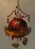 A house in the sky by Catell-Ruz