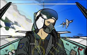 Pilot in MiG-21 by rednotdead