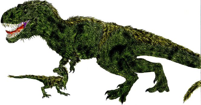 Angry Tyrannosaurus by Durbed
