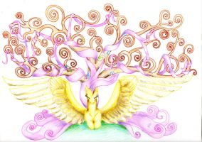 Fluttershy - Tree of life by DragonaDeMetal