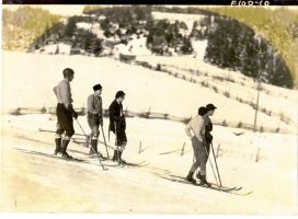 Ski Ride Around 1925 by JocelyneR