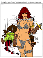 Red Sonja Sample Ink By Apalomaro-d4p6kpg by leoelectronix