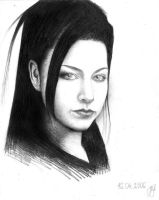 amy lee in black by onpumi