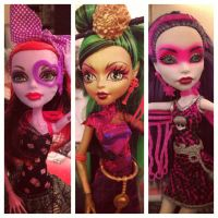 Monster High Ghouls by lancheney