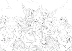 sonic in Ponyville -Sketch- by ss2sonic