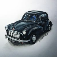 1955 Morris Minor by PencilRick