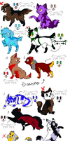canines and Felines adopt (4/12) Open by YukiAlecCross28