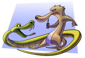 Mongoose and the Snake by AlexanderHenderson