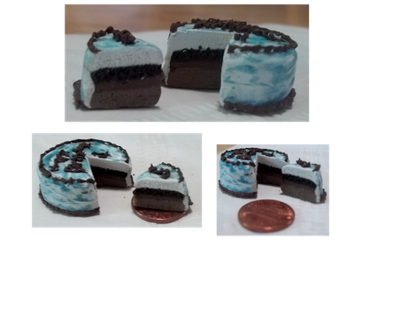 Polymer Clay Miniature Ice Cream Cake by CPiznotCOOL